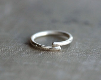 Overlapping Sterling Silver Textured Band - Made to Order
