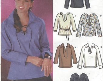 Womens Tops Pullover Tops or Tunics with Neckline and Sleeve Variations Simplicity Sewing Pattern 5911 Size 14 16 18 20 Bust 36 38 40 42 FF