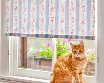 "Trellis Floral Pattern Window Shade 32.25''- 35"" width"