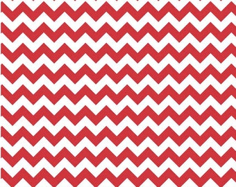 Small Chevron Red  by Riley Blake Designs Fat Quarter Cut