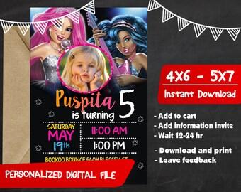 Barbie Invitation,Barbie Birthday,Barbie Party,Barbie Birthday Invitation,Barbie Printable,Barbie Invitation Party,Barbie Invite-F0211