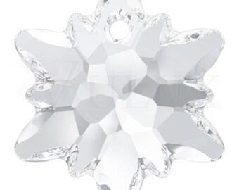 Swarovski 6748 Edelweiss Pendant  14 mm Crystal