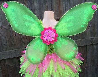 Tinkerbell costume, tinkerbell dress, Tinkerbell tutu, Fairy tutu, fairy costume, fairy dress, green fairy dress, pink fairy dress, pixie