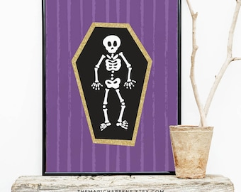 HALLOWEEN Print, Skull Printable , Halloween Printable Decor, Halloween Wall Art, Skull Wall Prints, Halloween DIY, Halloween Party Decor