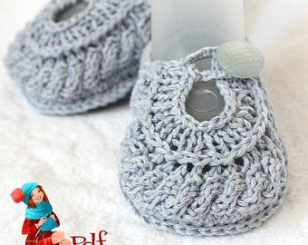 Knitting Pattern (PDF file)   Baby Shoes Boy and Girl (sizes 0-6/6-9/9-12 months)