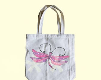 Dragonfly tote bag Medium tote bag 13x13x3 inches ECO-tote bag