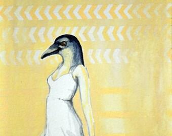 Dancing until Flight - Print of original painting