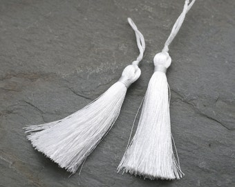 Silk Tassels, Quality Silk Tassel, Long Silk Tassel, White Tassel, Mala Supplies, Large Tassel, Mala Beads Tassel, Tassel Necklace, Boho