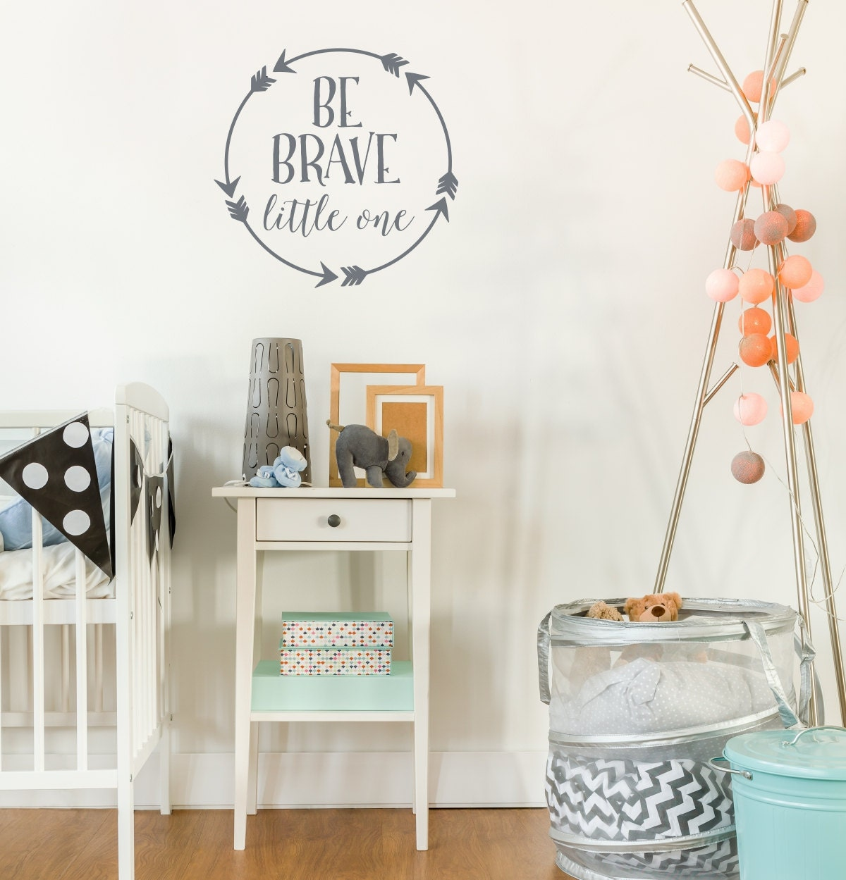 Be Brave Little One Wall Decal Baby Boy Nursery Wall Decal Arrow - Baby nursery wall decals