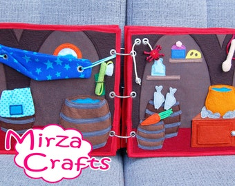 PATTERN & TUTORIAL 2 Quiet book pages Piratebook - Pirate ship downstairs