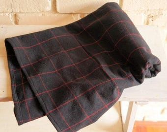 Black and Red Flannel Baby Blanket - Receiving Blanket - Crib Blanket - Tartan Blanket - Nursing Blanket - Baby Boy Shower Gift under 25