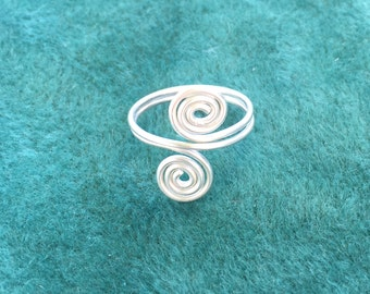 Sterling silver spiral ring size R and a half