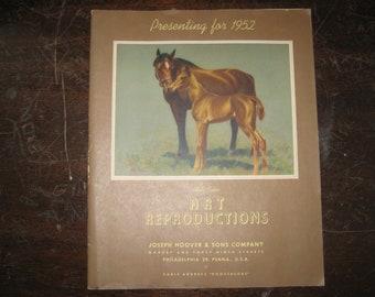 1952 Calendar Top Pin Up Cheesecake Art Reproductions Catalog, RARE
