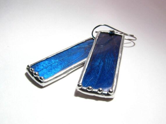 Real Butterfly Jewelry - Blue Morpho Butterfly Wing Earrings