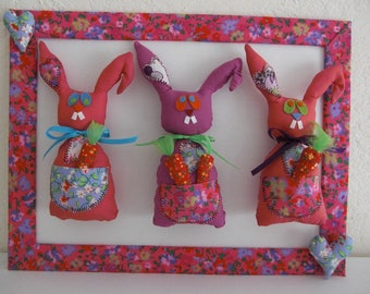 Table p' Lil cuddly bunnies pink