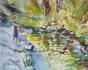 Girl At The Creek,