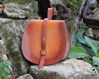 Vegetable tanned leather Nordic purse