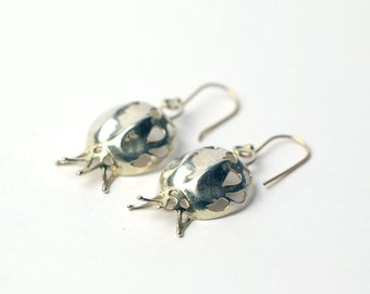 Silver pomegranate Earrings,