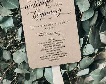 Wedding Program Fans // DIY KIT // Everything you Need is in the Box!
