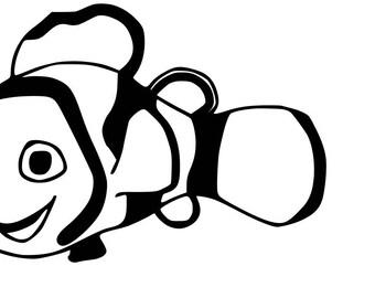Clown fish SVG Cutting file