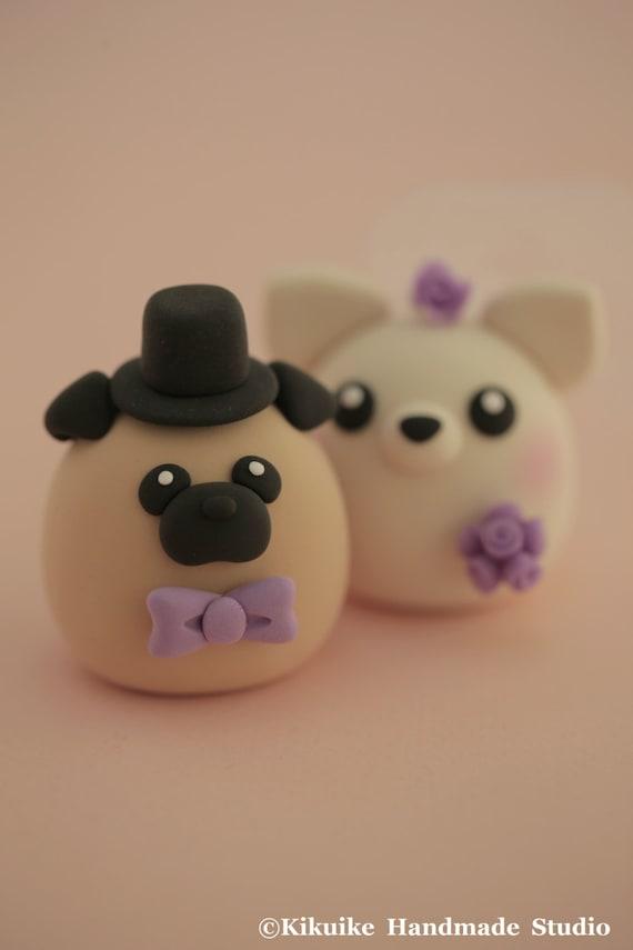 Pug Wedding Cake Topper