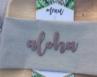 Place Setting Labels