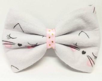 Dainty Kitty - Kitty Hair Bow - Kitty Cat Bow Tie - Kitty Dog Bow Tie - Cat Hair Bow - Cat Bow Tie - Cat Dog Bow Tie