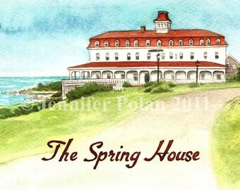 The Spring House Block Island RI Postcard
