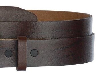 """Narrow Brown Leather Belt Strap- Oil Tanned Snap On Mens Womens-  US - 1 1/4"""" -29 30 31 32 33 37 38 39 40 41 42 43 44 45 - More Styles Avail"""