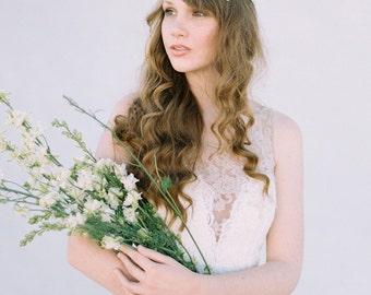 Haarkranz, Hochzeitsstirnband, Braut Stirnband, Kristall Perlen Haare Rebe, Perlenstirnband, Spitze Braut Kopfschmuck, Haar Vine - Art-413