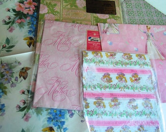 Vintage Collection of Wrapping Paper, Girlie