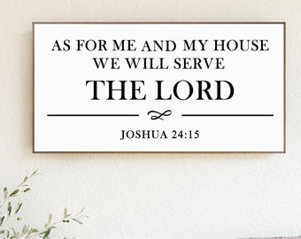 """Wood Sign """"As for me and my house"""" Bible Quote 