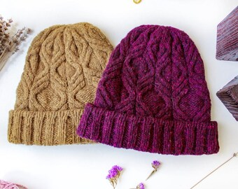 Warm Winter Hat for Women, Women Knit Hat, Tweed Wool Hat, Knit Hat, Winter Birthday Gift for Her, Knit Beanie, Winter Beanie, Wool Beanie