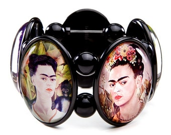 Frida Kahlo Five-Cameo Stretch Bracelet