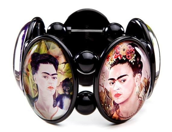 Frida Kahlo Five-Cameo Stretch Bracelet