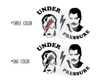 Under Pressure | David Bowie | Freddie Mercury Vinyl Decal
