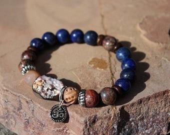 Chakra Bracelet Om Yoga Bracelet Mixed gemstone