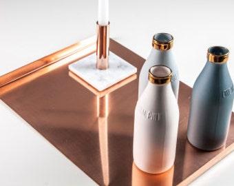 Copper tray, decorative tray, serving tray, rectangular tray, ottoman tray, copper home decor, modern tray, nordic, scandinavian, Melbourne