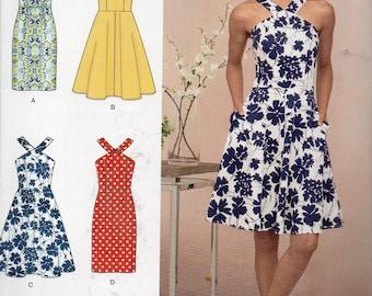 Simplicity Pattern 8594 HALTER DRESSES Misses Sizes 6 8 10 12 14