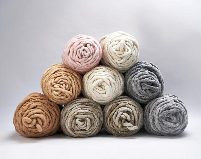 Loopy Mango - BIG LOOP Choose Your Color- Merino Wool