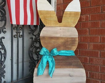 3ft Standing Reclaimed Wooden Easter Bunny