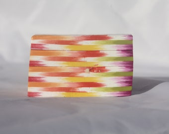 Polymer Clay Handmade Raw Ikat Cane/Loaf- XL Size-Rainbow Colors
