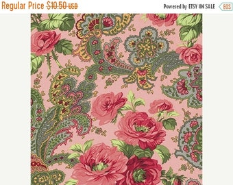 40% OFF SALE - Rose Paisley in Carnation Pink - INDIGO Rose - Verna Mosquera - Free Spirit Fabric - By the Yard