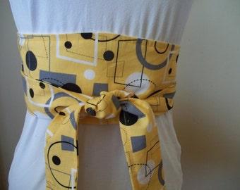 Obi Belt ~ Sash ~ Wrap Belt ~  Geometric Belt ~ Tie Belt