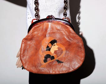 Bag 70 s leather face