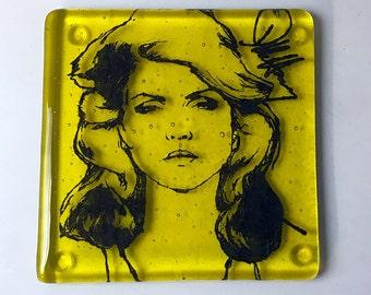 Debbie Harry Blondie Musician Fused Glass Coaster Singer Disco New Wave