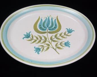 """Vintage Franciscan Earthenware """"Tulip Time"""" Large Oval Serving Platter"""