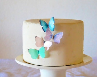 Kleinen sortiert Pastell essbare Schmetterlinge set 24 - essbare Schmetterlinge für Kuchen und Cupcakes