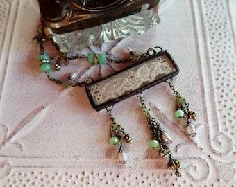 Vintage Trim Soldered Charm Necklace