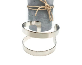 Silver plated adjustable cuff bracelet